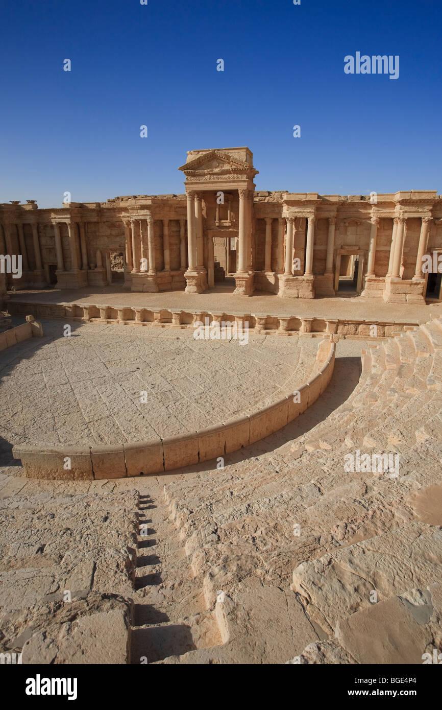 Syria, Palmyra ruins (UNESCO Site), Theatre - Stock Image