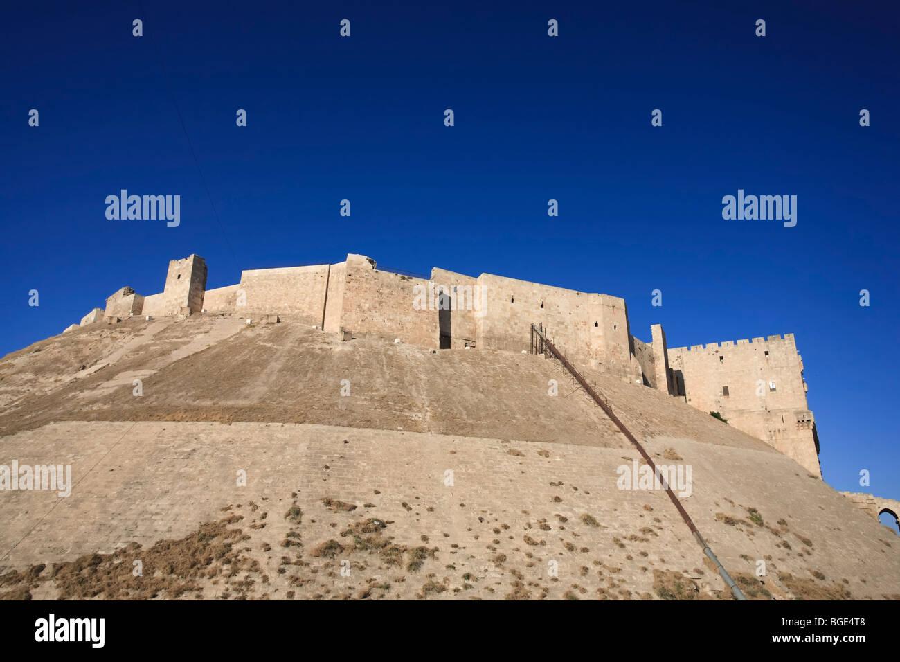 Syria, Aleppo, The Old Town (UNESCO Site), The Citadel Stock Photo
