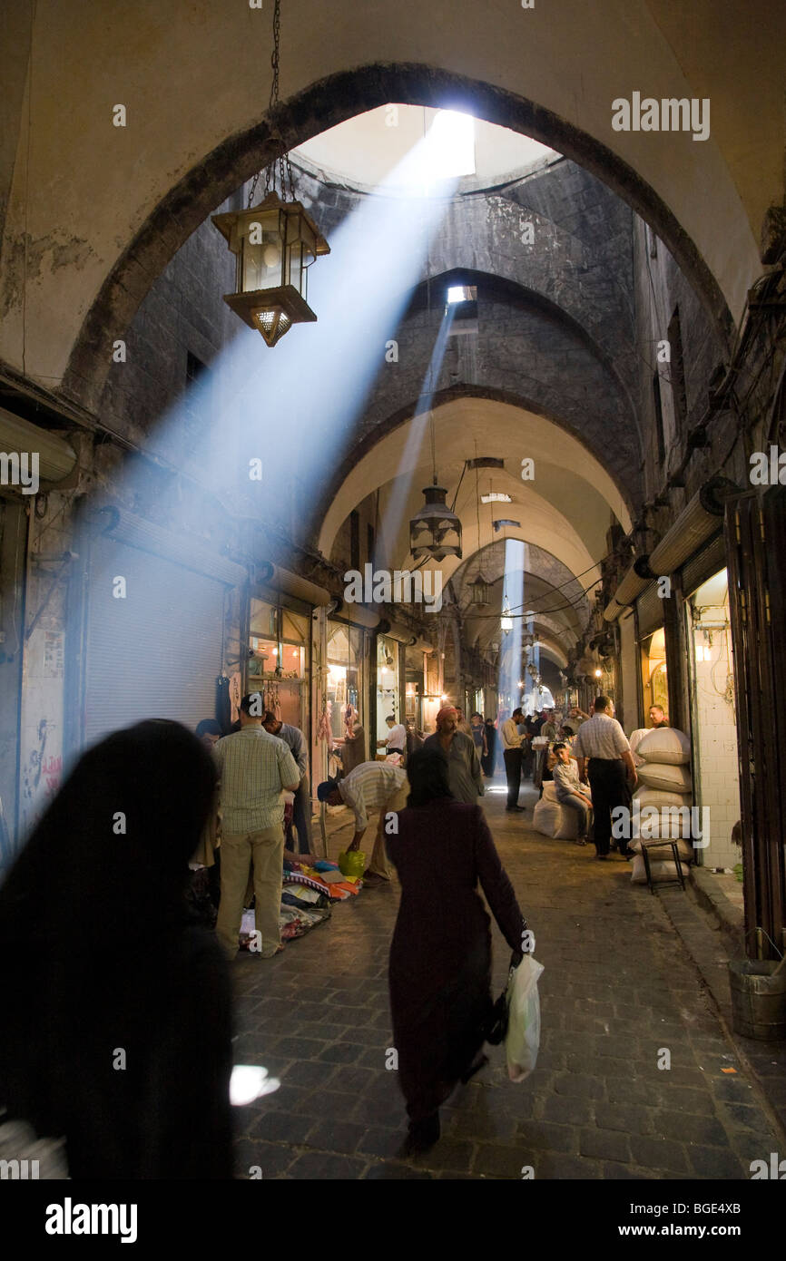 Syria, Aleppo, Old Town (UNESCO Site), Old Souq - Stock Image