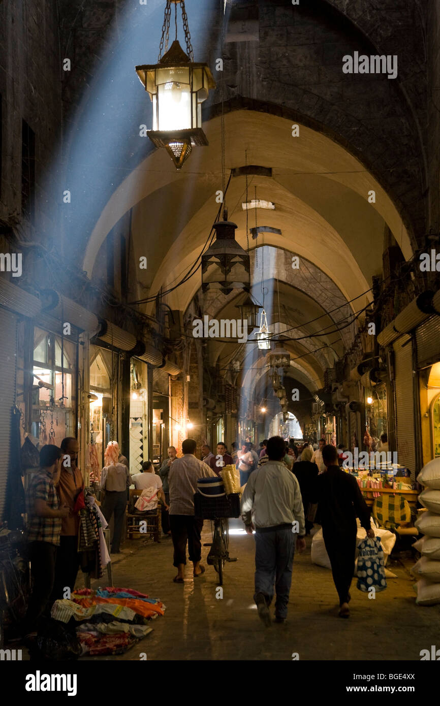 Syria, Aleppo, Old Town (UNESCO Site), Old Souq Stock Photo