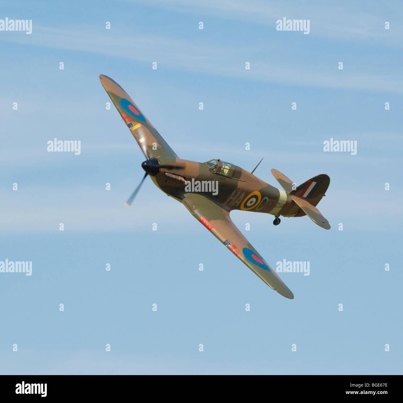 Hawker Hurricane fighter plane - Stock Image