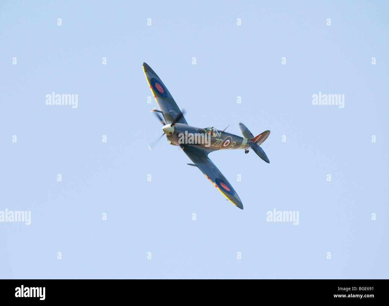 Spitfire aircraft at air show 2009 - Stock Image
