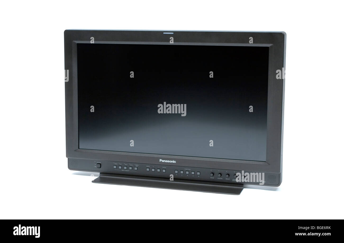 Professional High Definition Widescreen 16:9 LCD Video Monitor - Stock Image