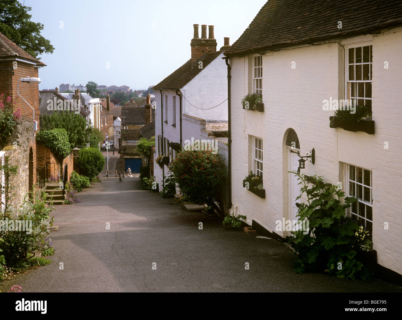 UK, England, Kent, Romney Marsh, Hythe, Church Lane - Stock Image