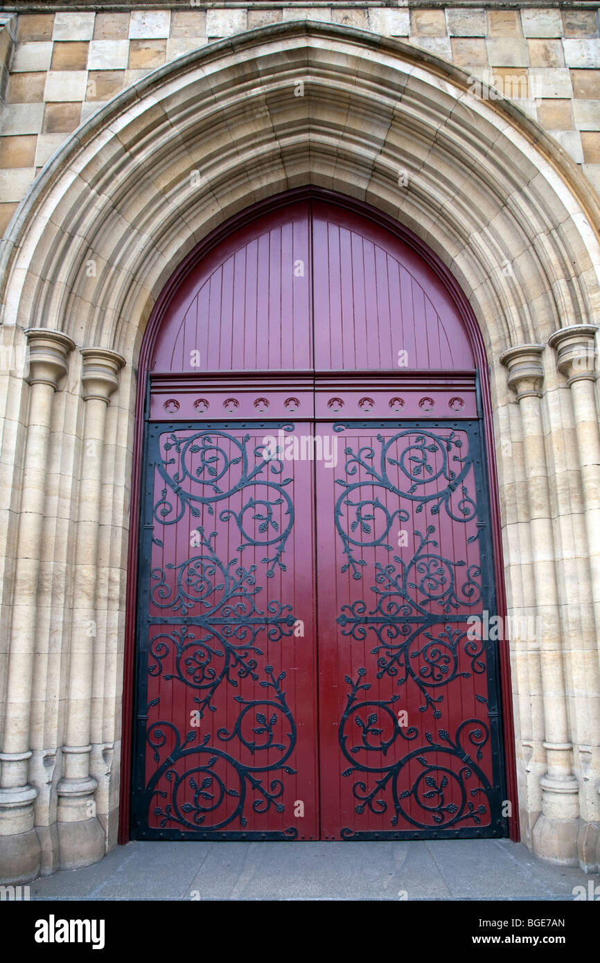St Paulu0027s Cathedral doors Melbourne Australia & St Paulu0027s Cathedral doors Melbourne Australia Stock Photo ...