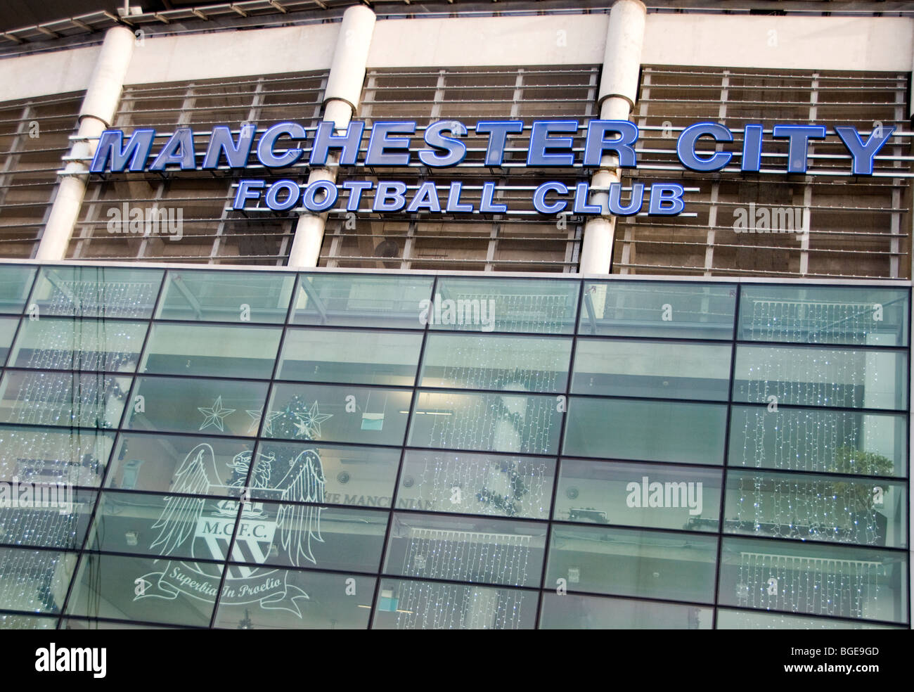 Manchester City's Etihad football stadium in England - Stock Image