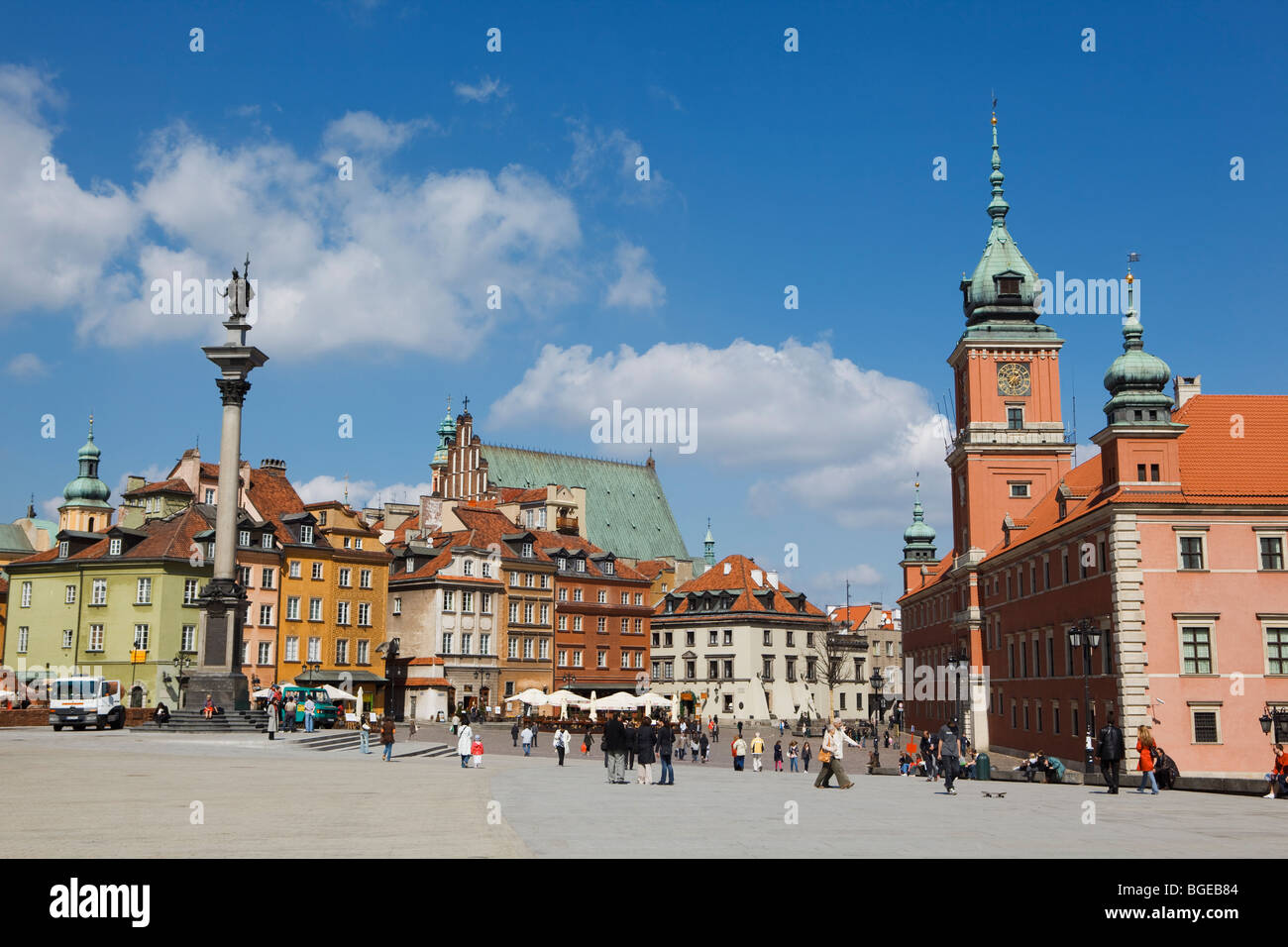 The Old Town in Warsaw, Poland - Stock Image
