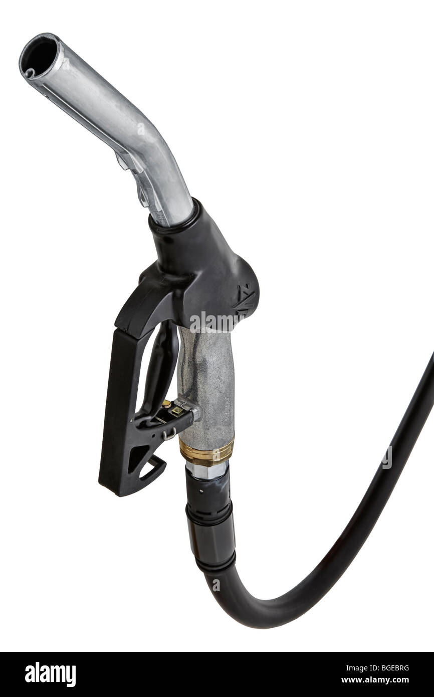 Petrol, gas pump hose - Stock Image