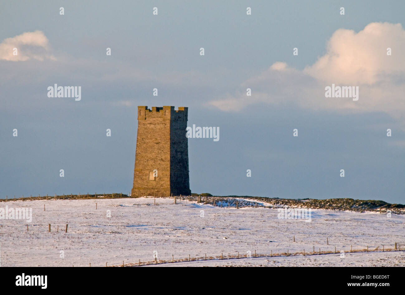The hilltop Kitchener memorial at Birsay North West Mainland Orkney Highland Scotland.  SCO 5756 Stock Photo