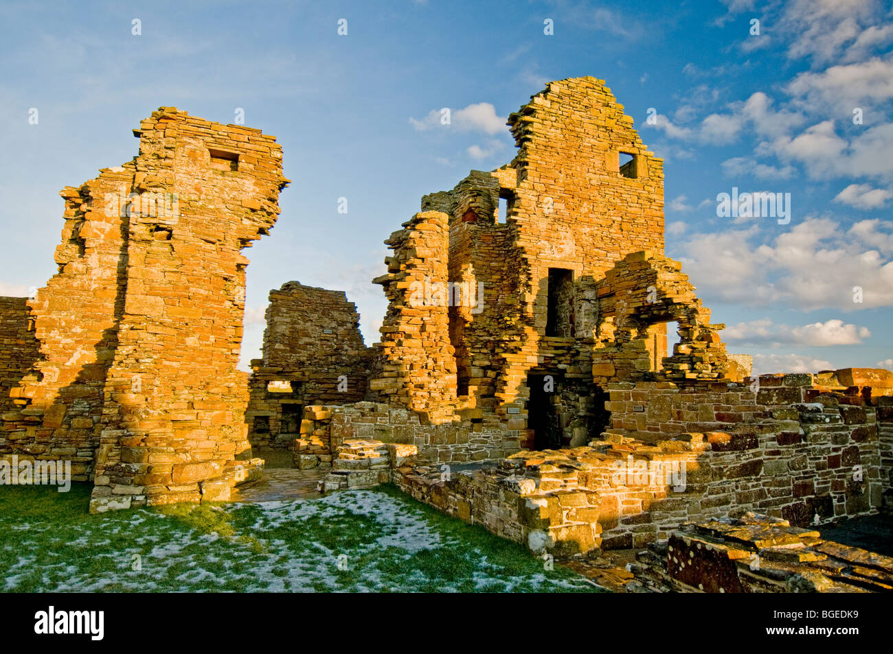 The Ruins of The Earl's Palace at Birsay in the North West corner of Mainland Orkney Scotland.   SCO 5767 Stock Photo