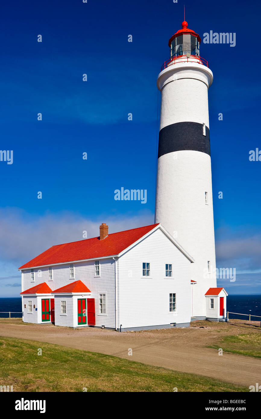 Point Amour Lighthouse, a Provincial Historic Site at Amour Point in L'Anse-Amour, along the Labrador Coastal - Stock Image