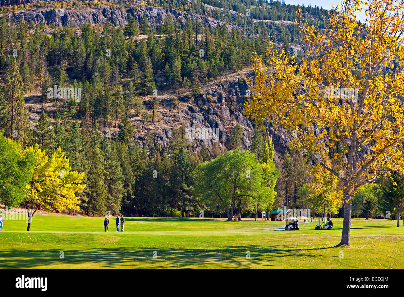 Twin Lakes Golf & RV Resort, Marron Valley, Highway 3A, Okanagan-Similkameen Region, Okanagan, British Columbia, - Stock Image