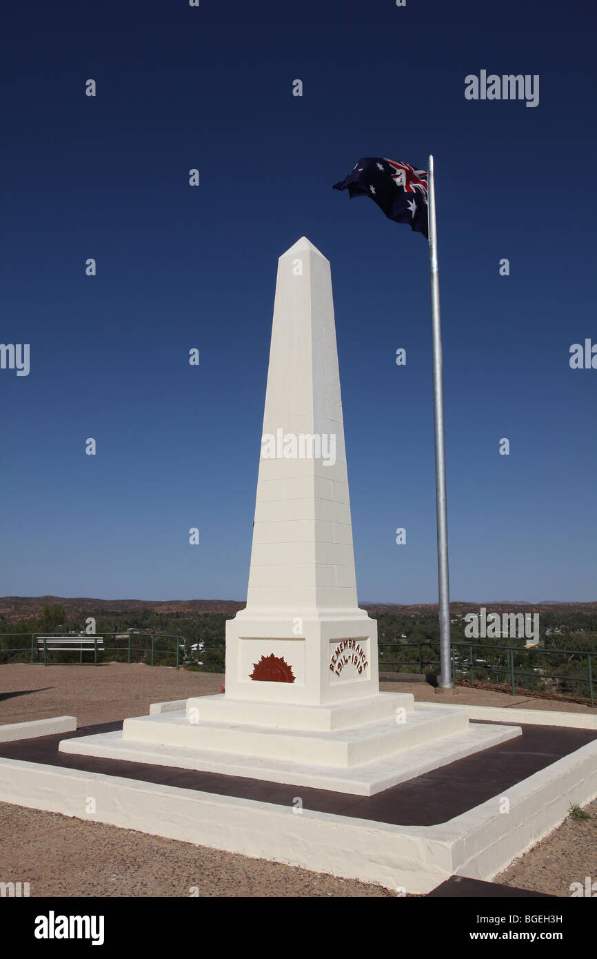 War memorial-Alice Springs-ANZAC Hill-NT-Australia - Stock Image