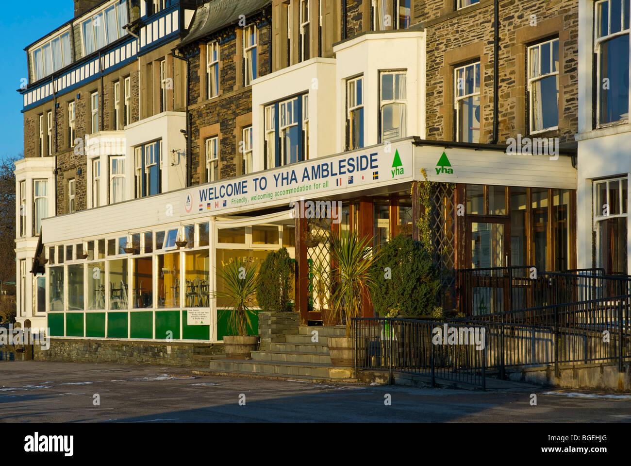 Ambleside Youth Hostel at Waterhead, Lake District National Park, Cumbria, England UK - Stock Image