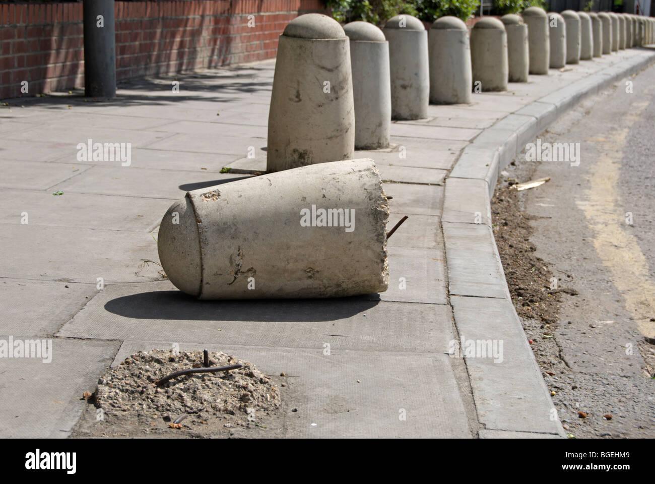 Concrete Pole Barriers : Concrete bollards stock photos