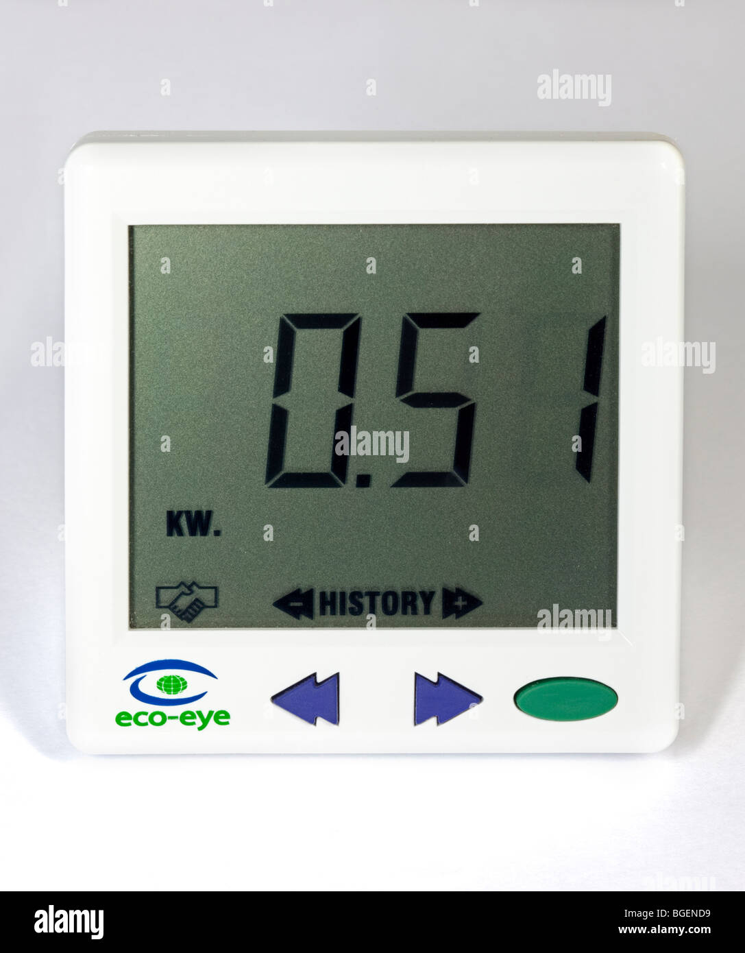 Electricity Power Usage Monitor - Stock Image