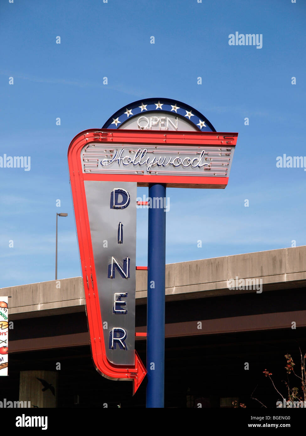 The The Hollywood Diner featured in films such as Barry Levinson's 'Diner' and 'Liberty Heights' - Stock Image