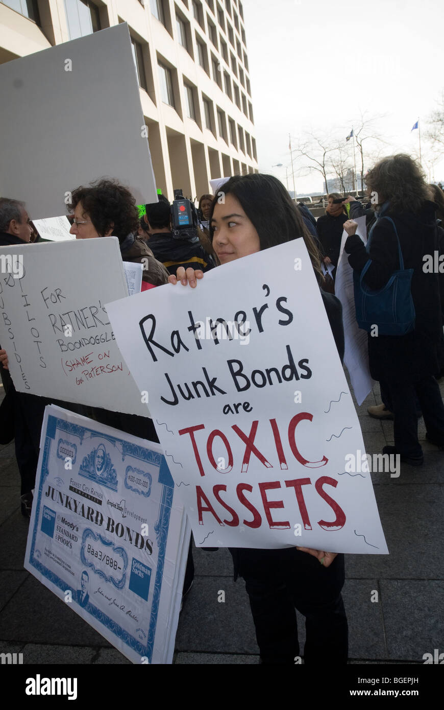 Activists and supporters from Develop Don't Destroy Brooklyn (DDDB) in New York - Stock Image