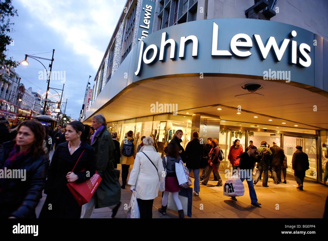 John Lewis department store on Oxford Street. London. UK 2009 - Stock Image