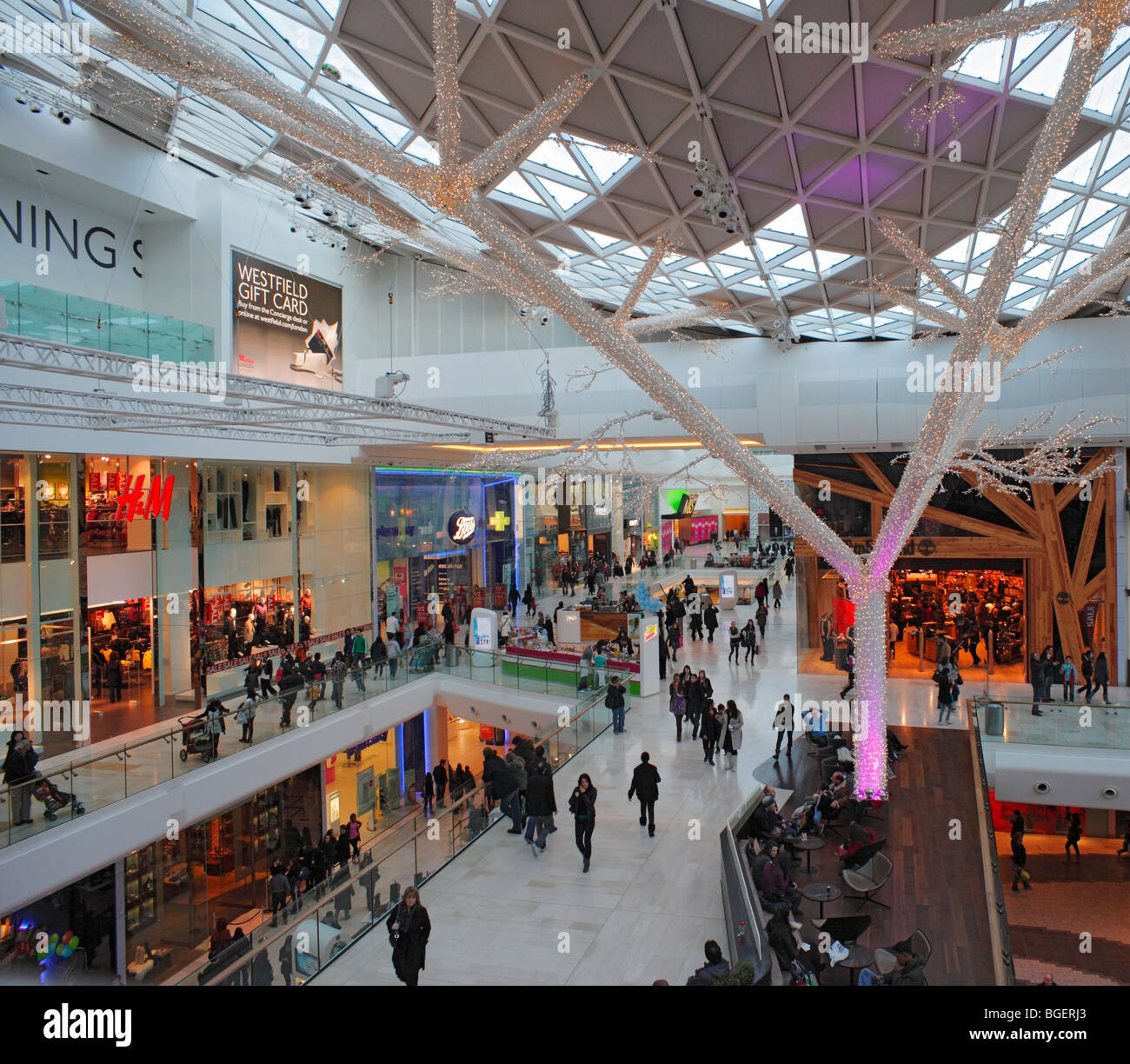Westfield Shopping Centre. Stock Photo