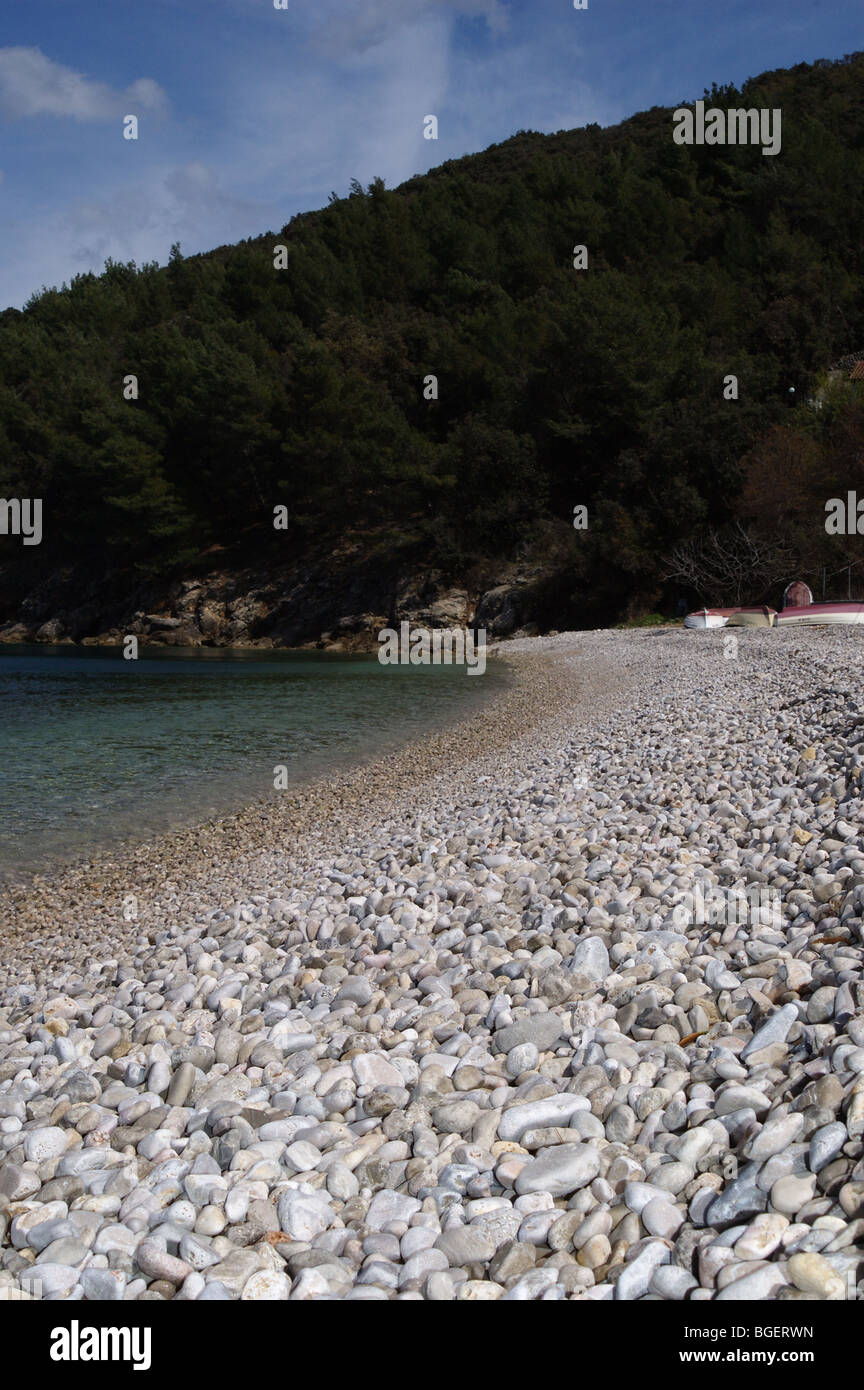 Valun beach, island of Cres, Croatia Stock Photo