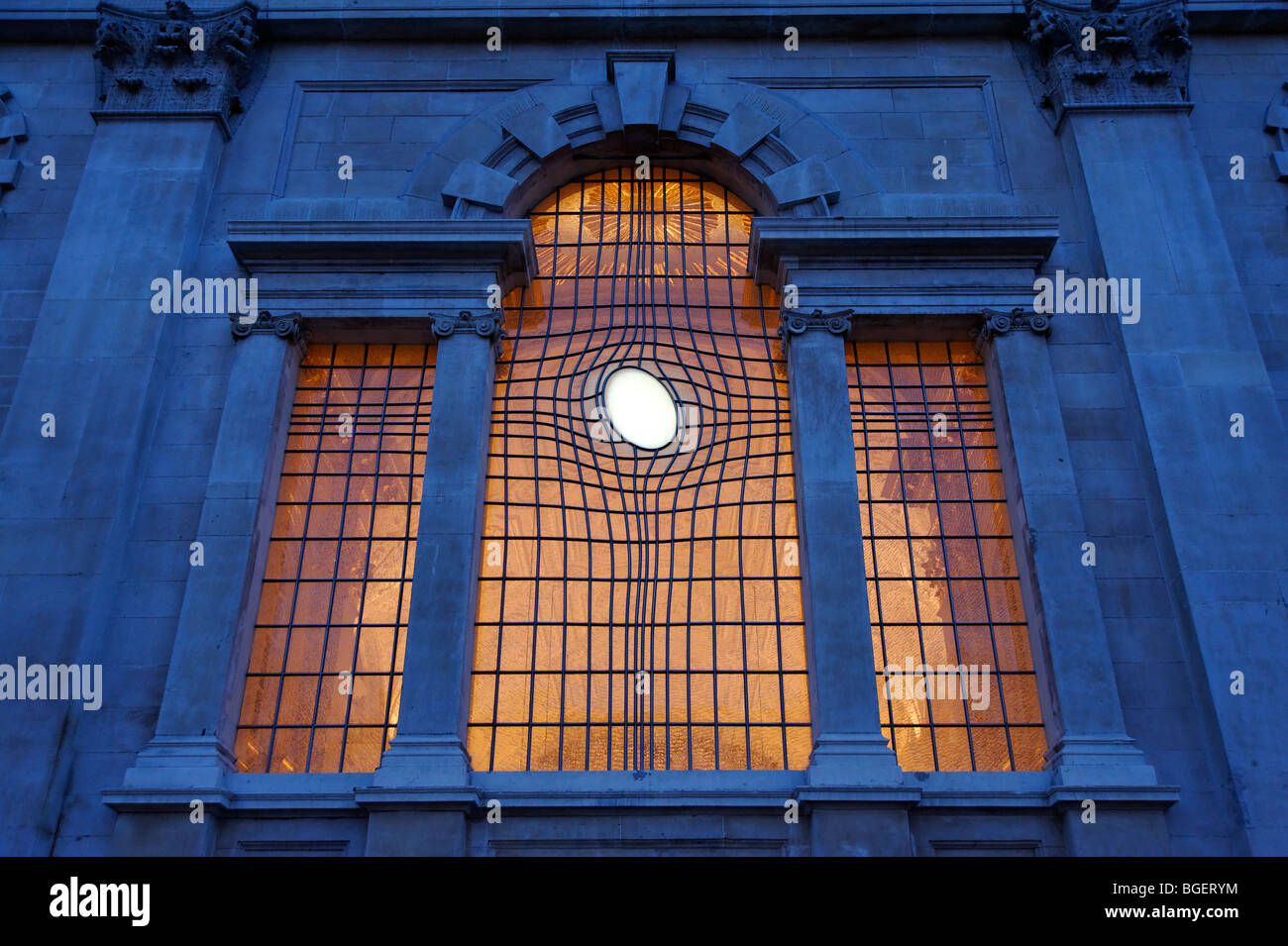 The contemporary East Window at St. Martin in the Fields church. London. UK 2009 Stock Photo