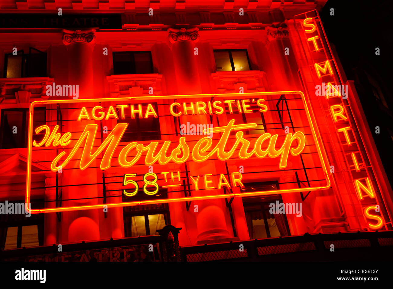 The Mousetrap play. St Martins theatre. London. UK 2009. - Stock Image