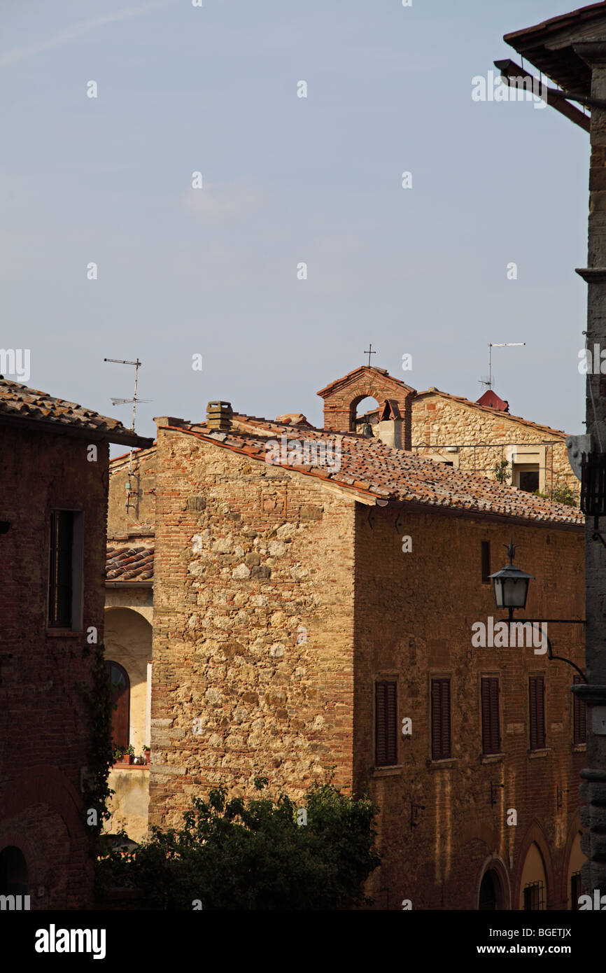 General view of Montepulciano Italy - Stock Image