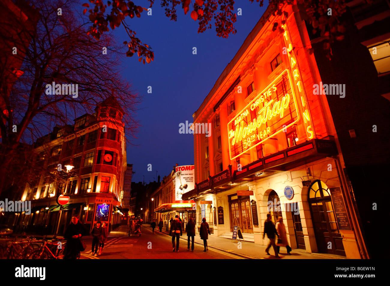 St Martins theatre. London. UK 2009. - Stock Image