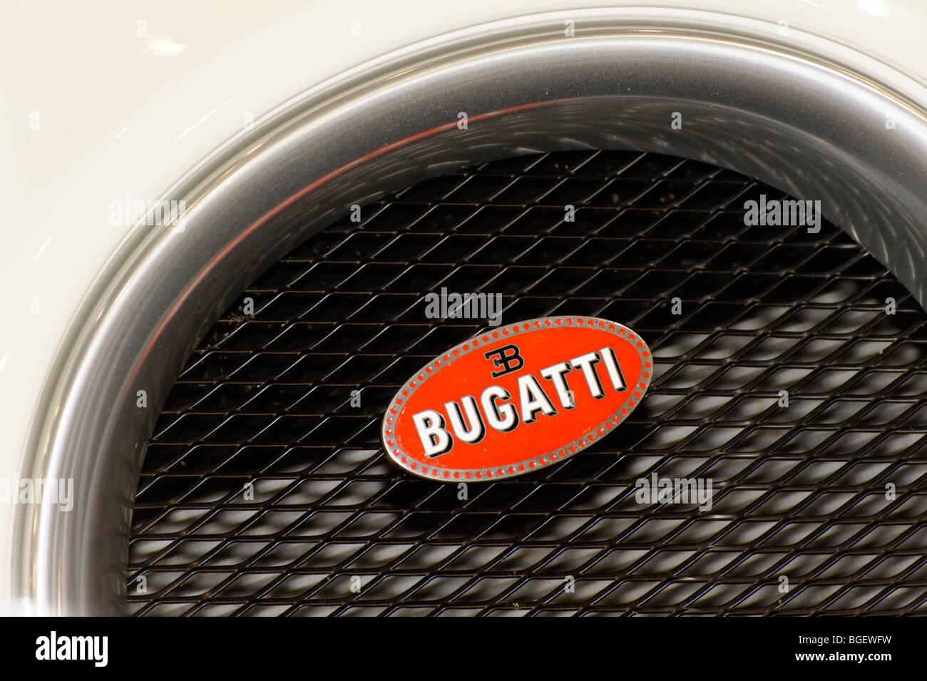 Bugatti Veyron super car badge. - Stock Image