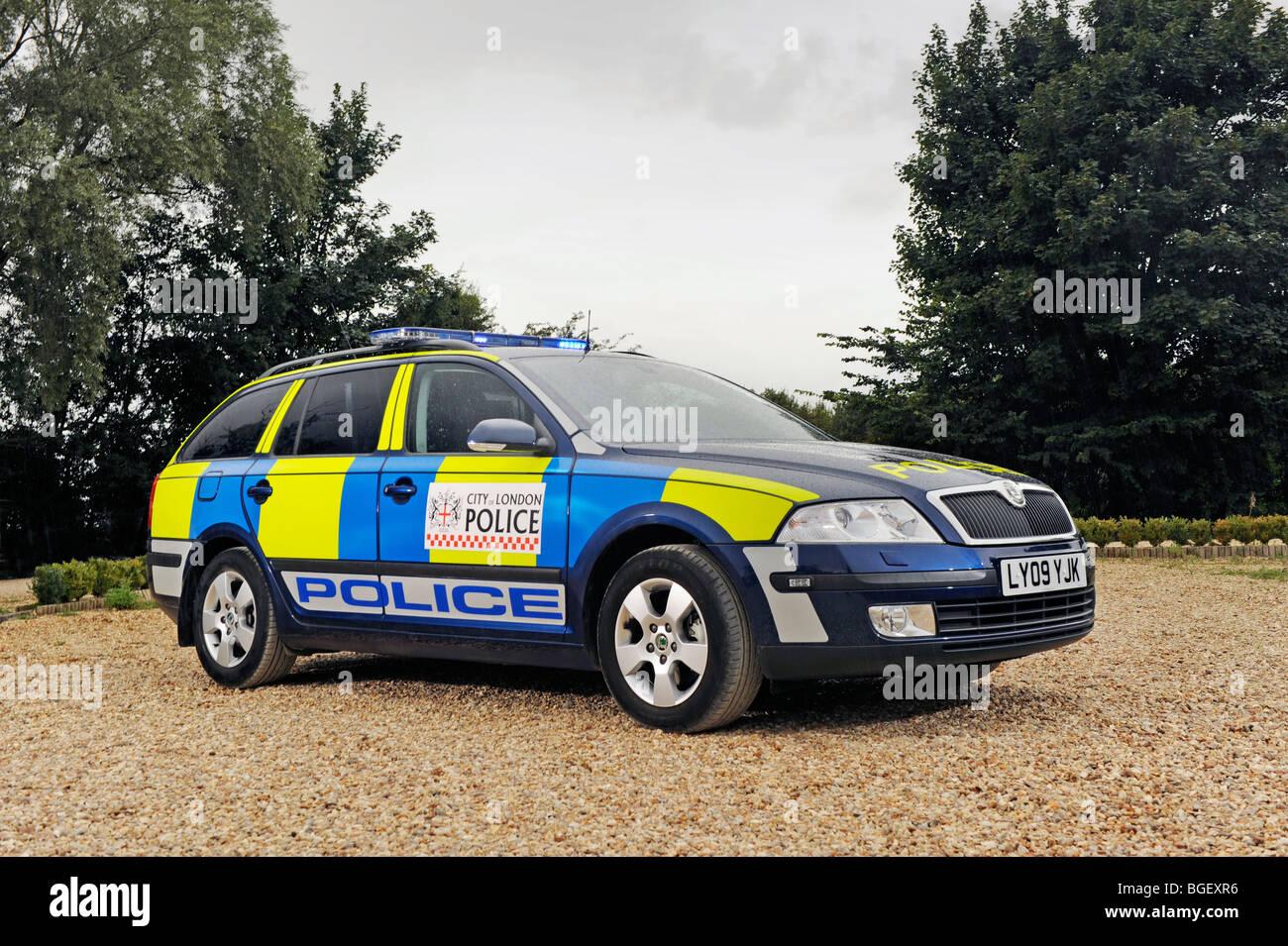 Skoda Octavia police estate car - Stock Image
