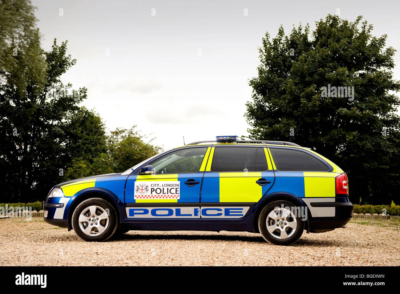 Skoda Octavia police estate car Stock Photo