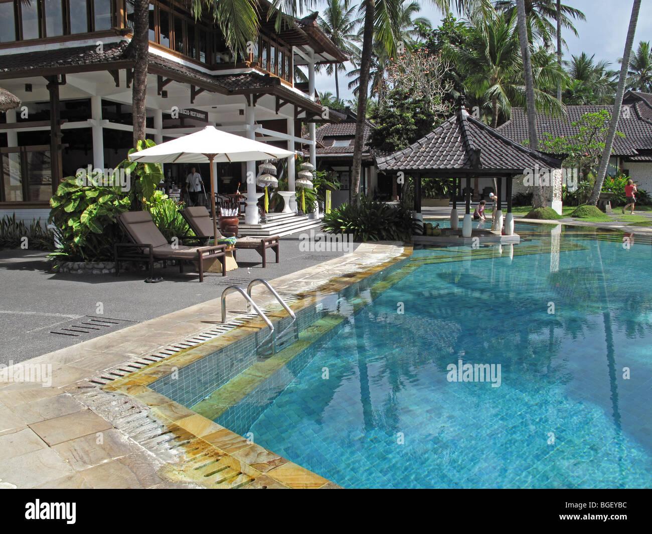 Swimming Pool In Candi Beach Cottage At Candidasa Karangasem Bali Stock Photo Alamy