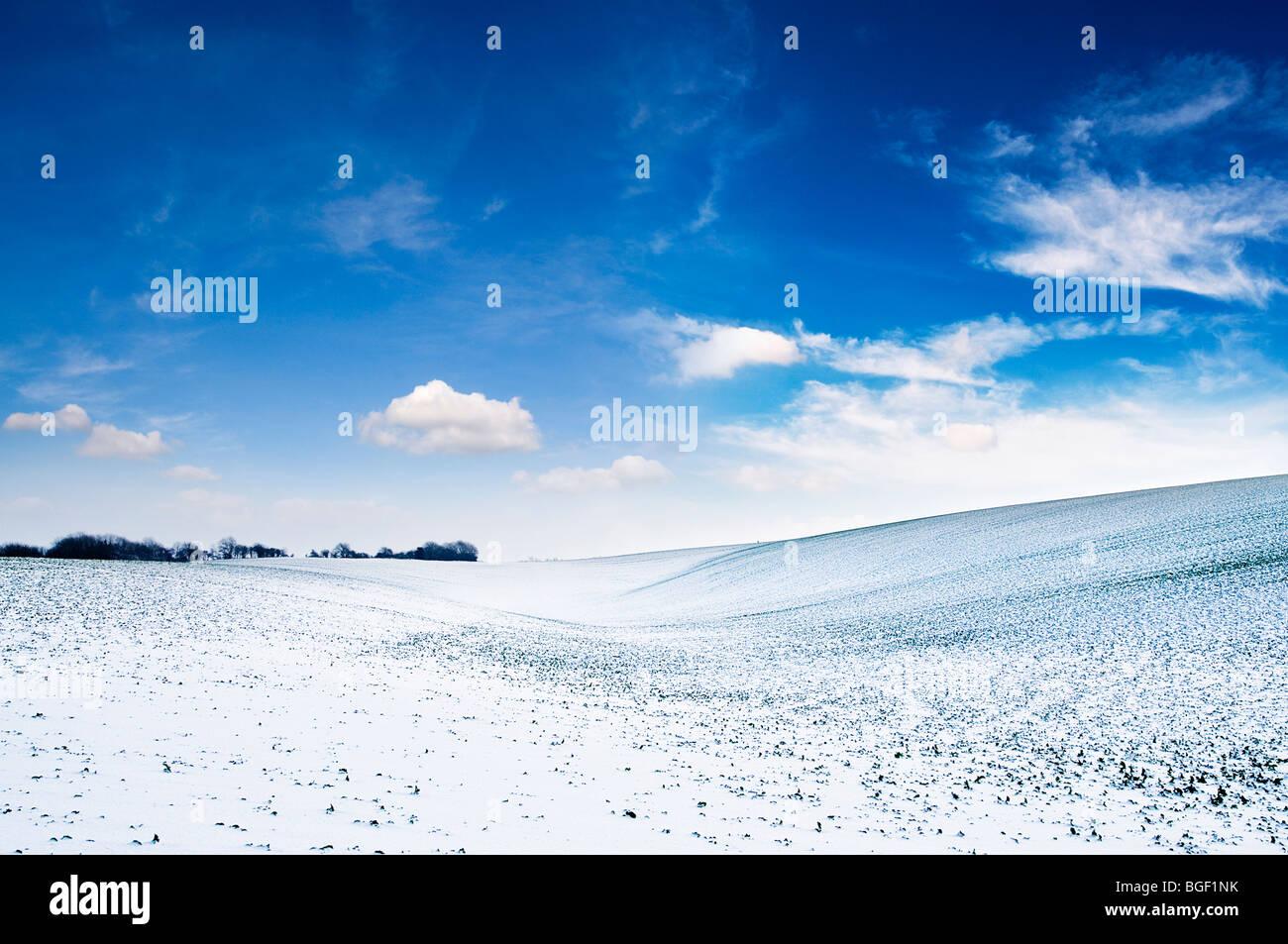 Winter hills - Stock Image