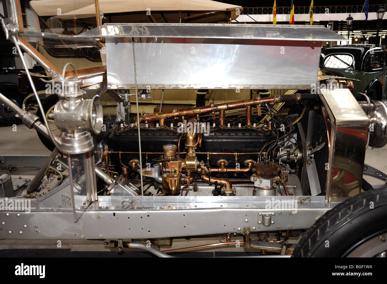 Rolls-Royce 1911, Silver Ghost, 40/50 HP, 6 cylinders,7248 cc,British production, Autoworld museum,Park of Fiftieth, - Stock Image