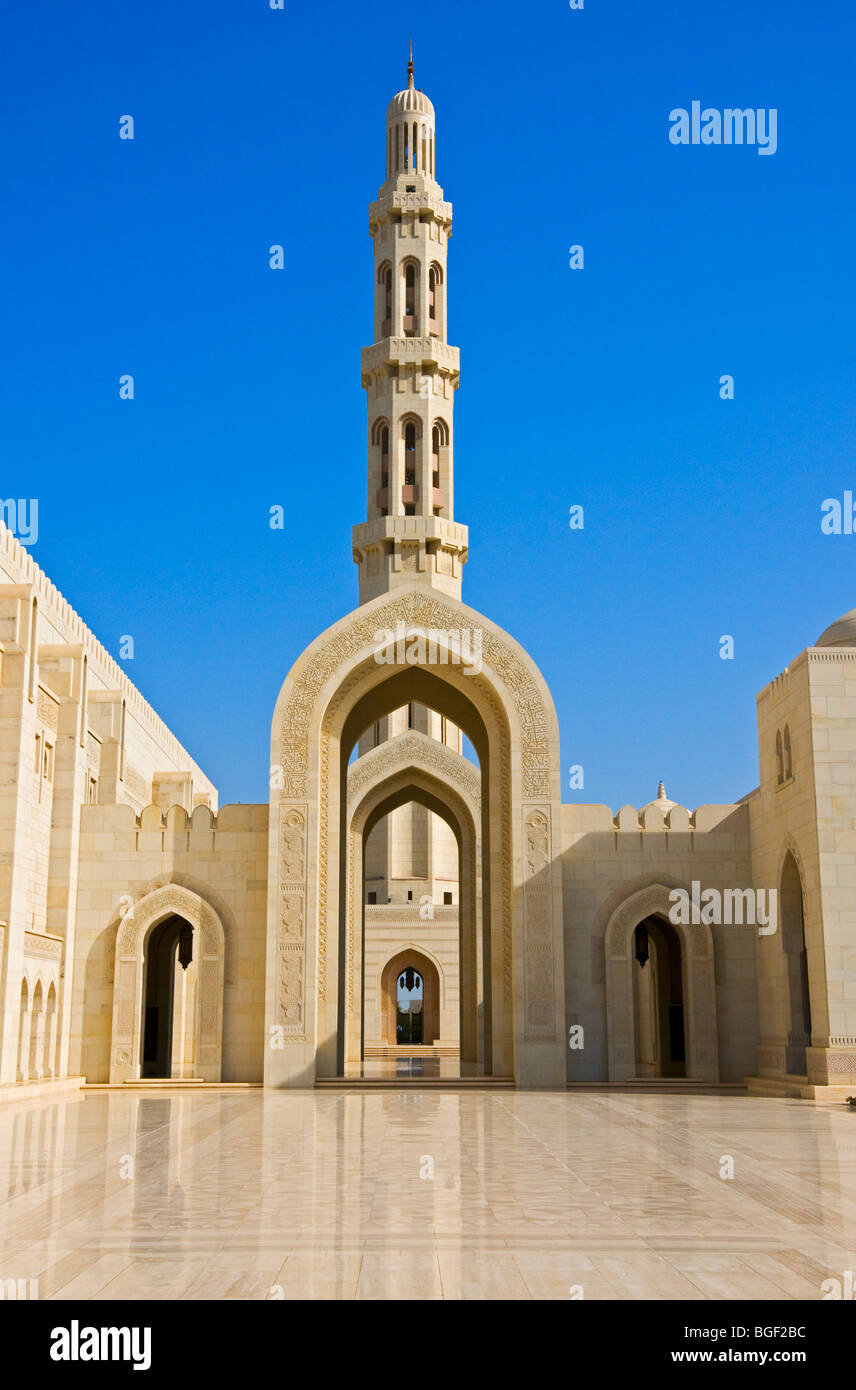 Sultan Qaboos Grand Mosque Muscat Sultanate of Oman - Stock Image