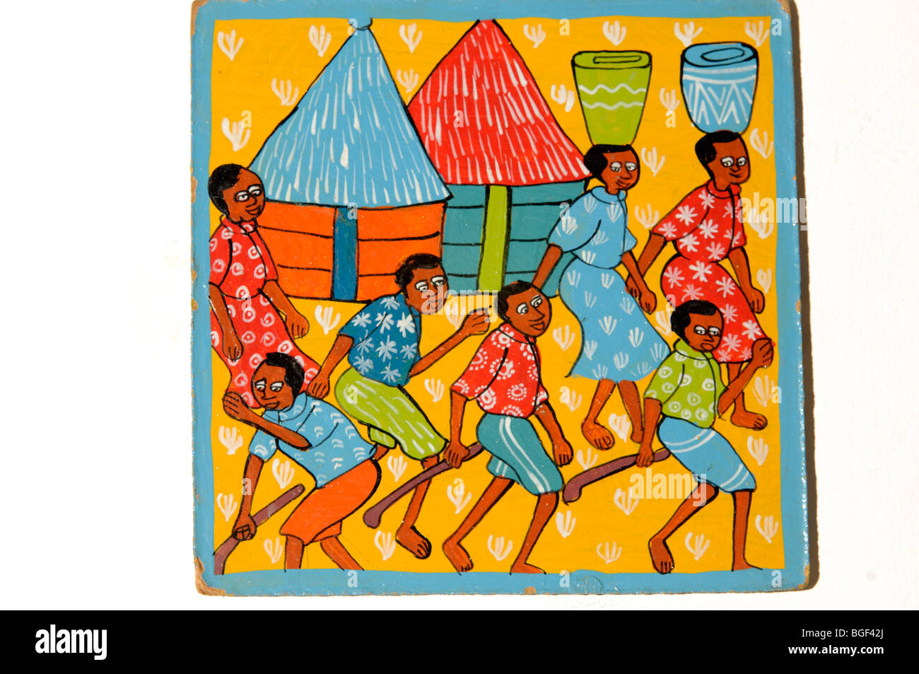 naive tribal art from Lusaka, Zambia - Stock Image