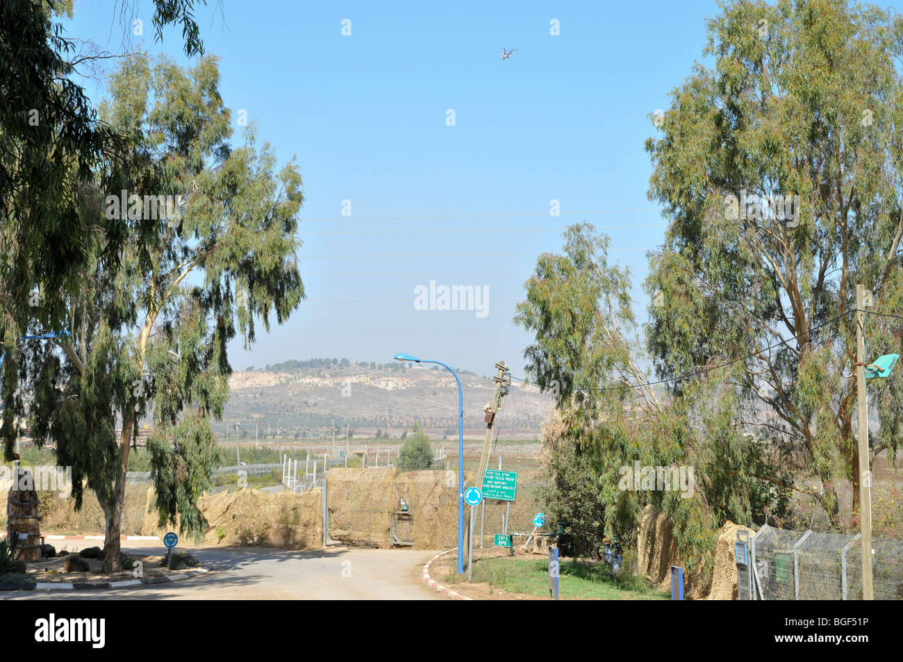 Israel, Upper Galilee, Metula, (founded 1896) - Stock Image