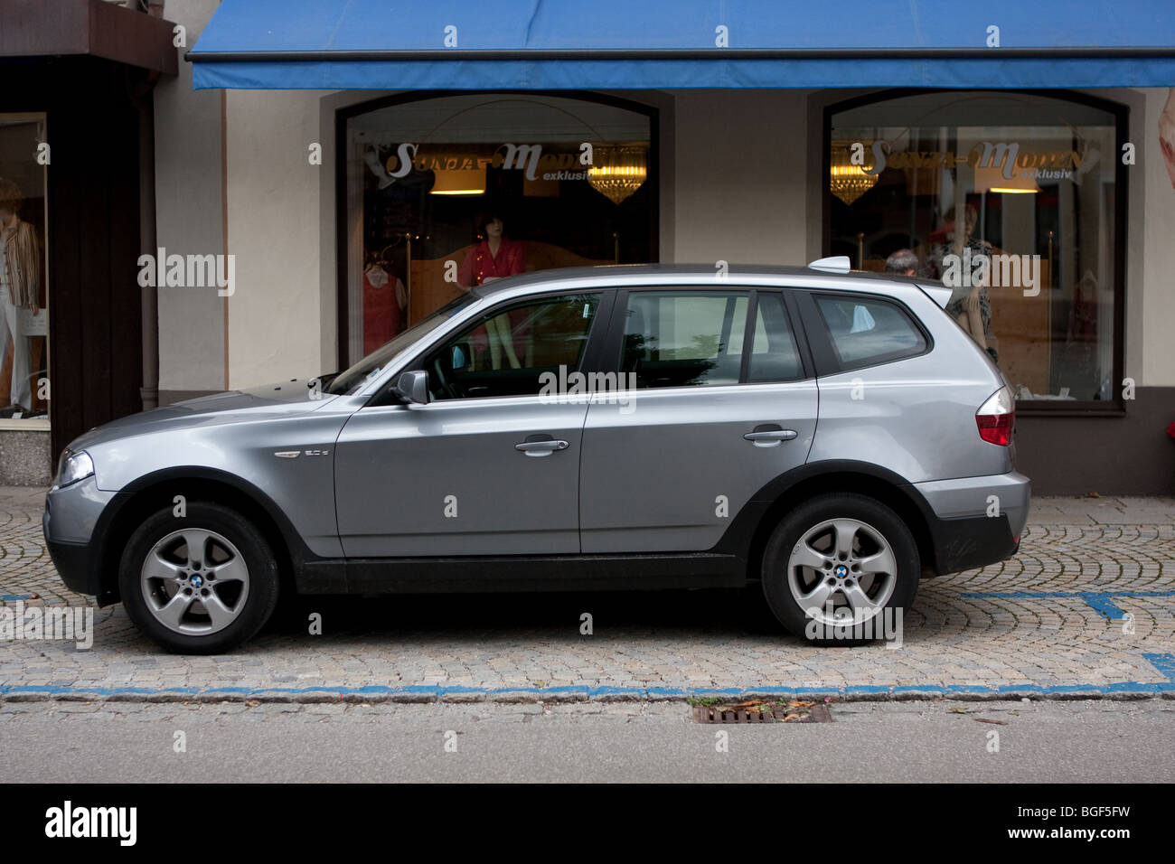 BMW X5 Car Parked in Bavaria, Germany - Stock Image