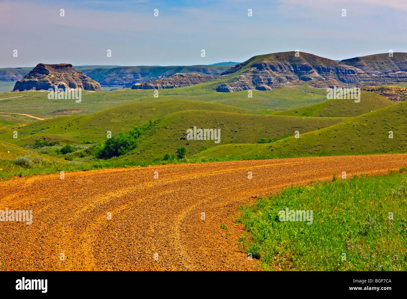 Castle Butte in the Big Muddy Badlands of southern Saskatchewan, Canada. - Stock Image