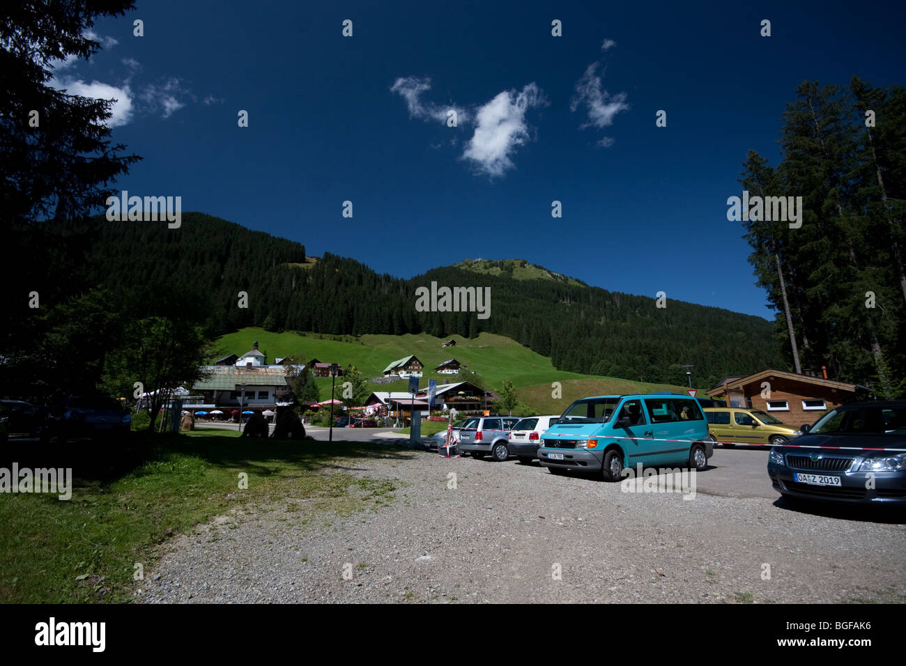 Picturesque view of picnic spot in Bavaria, Germany Stock Photo