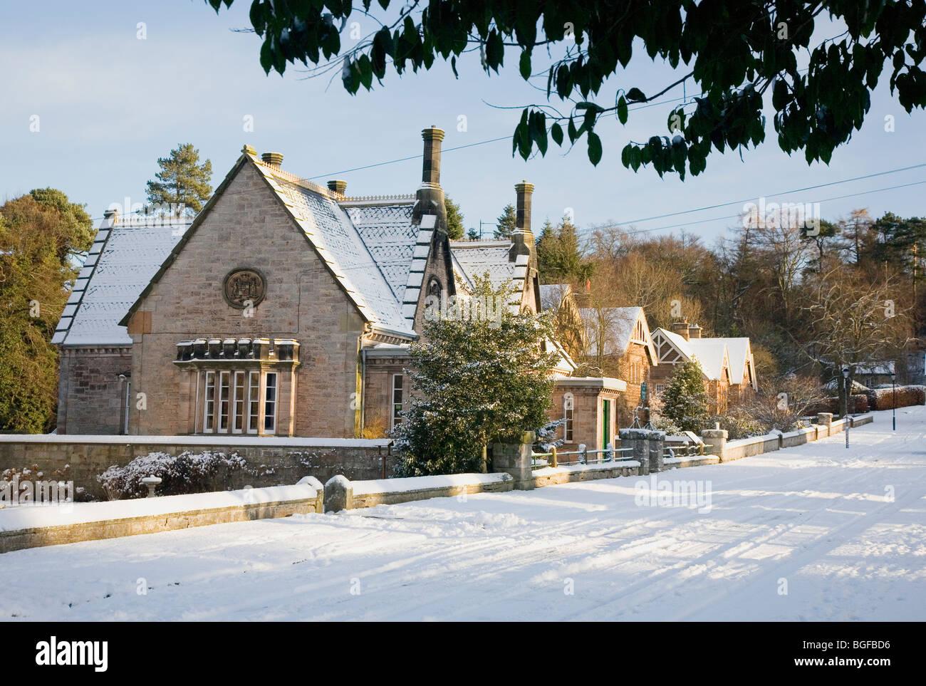 Ford village, Northumberland, UK Stock Photo