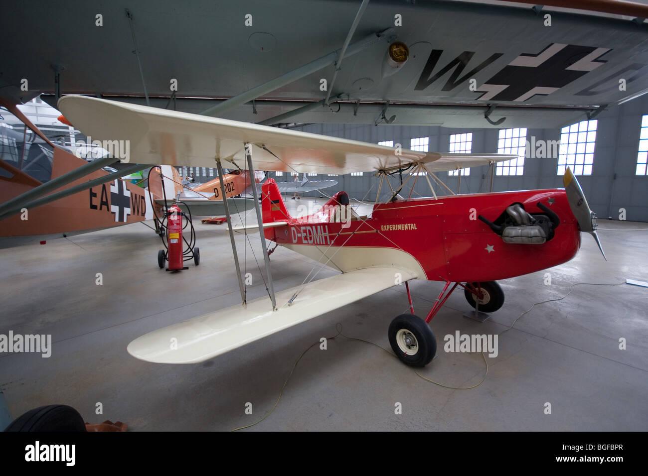 Aviation Museum in Deutsches Museum: Oberschleissheim Airfield - Bavaria, Germany - Stock Image