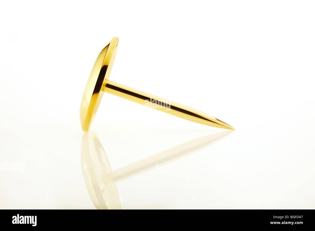 Drawing Pin Close Up - Stock Image