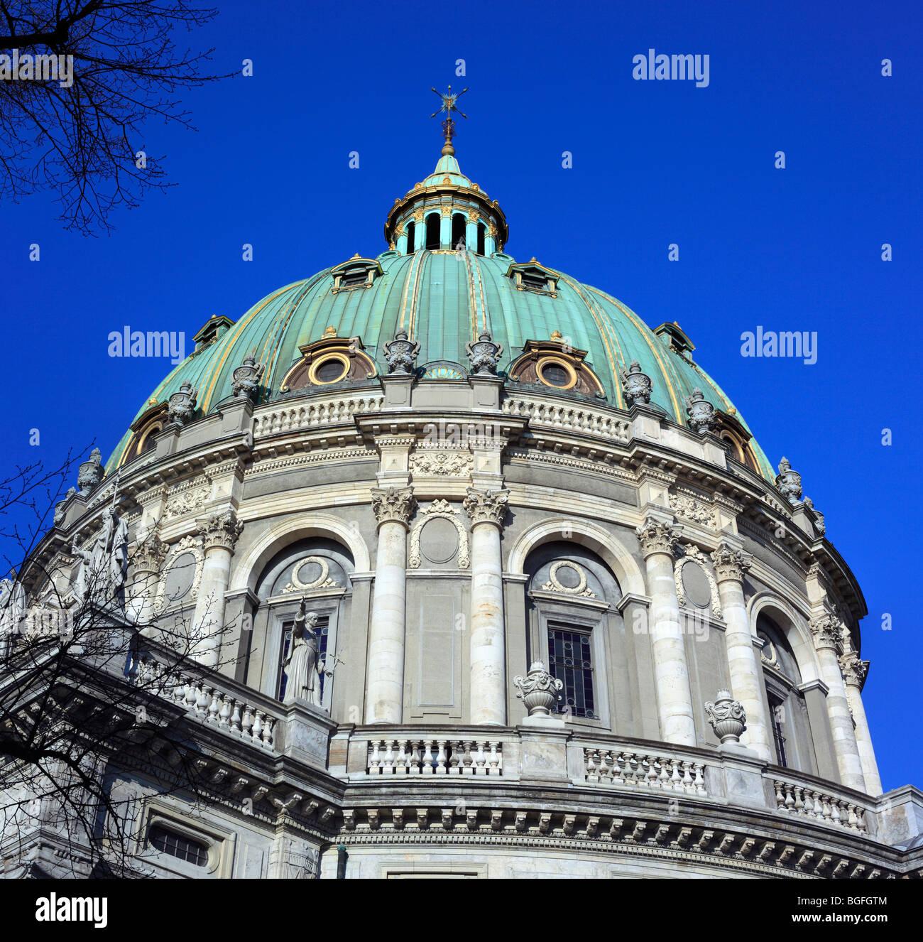 Frederik's Church (The Marble Church), Copenhagen, Denmark - Stock Image