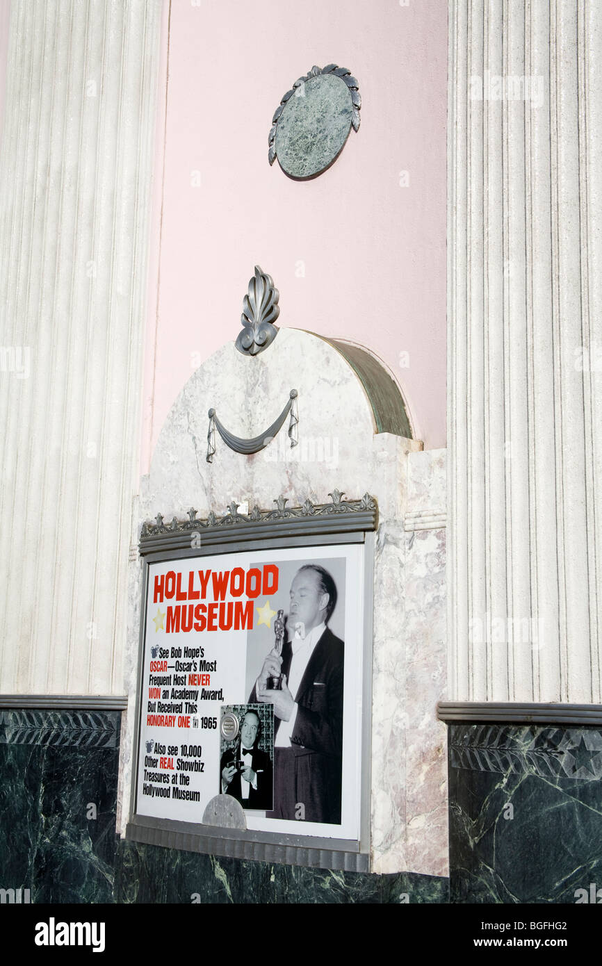 Hollywood Museum (Old Max Factor Building) Hollywood, California, USA - Stock Image