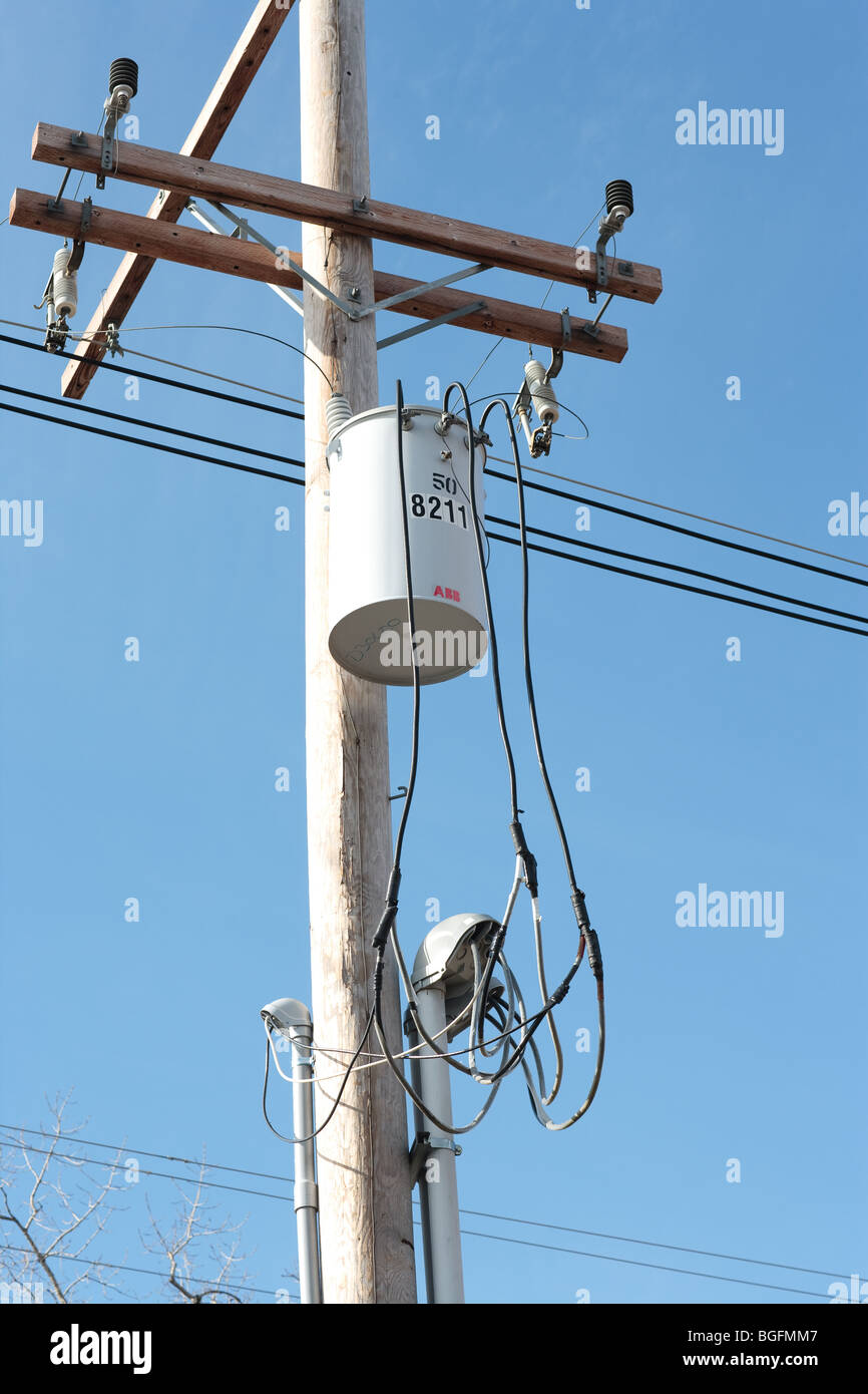 Transformer Electric Stock Photos Free Photography Meter Messy Electrical Installation Lines And On An Pole Image