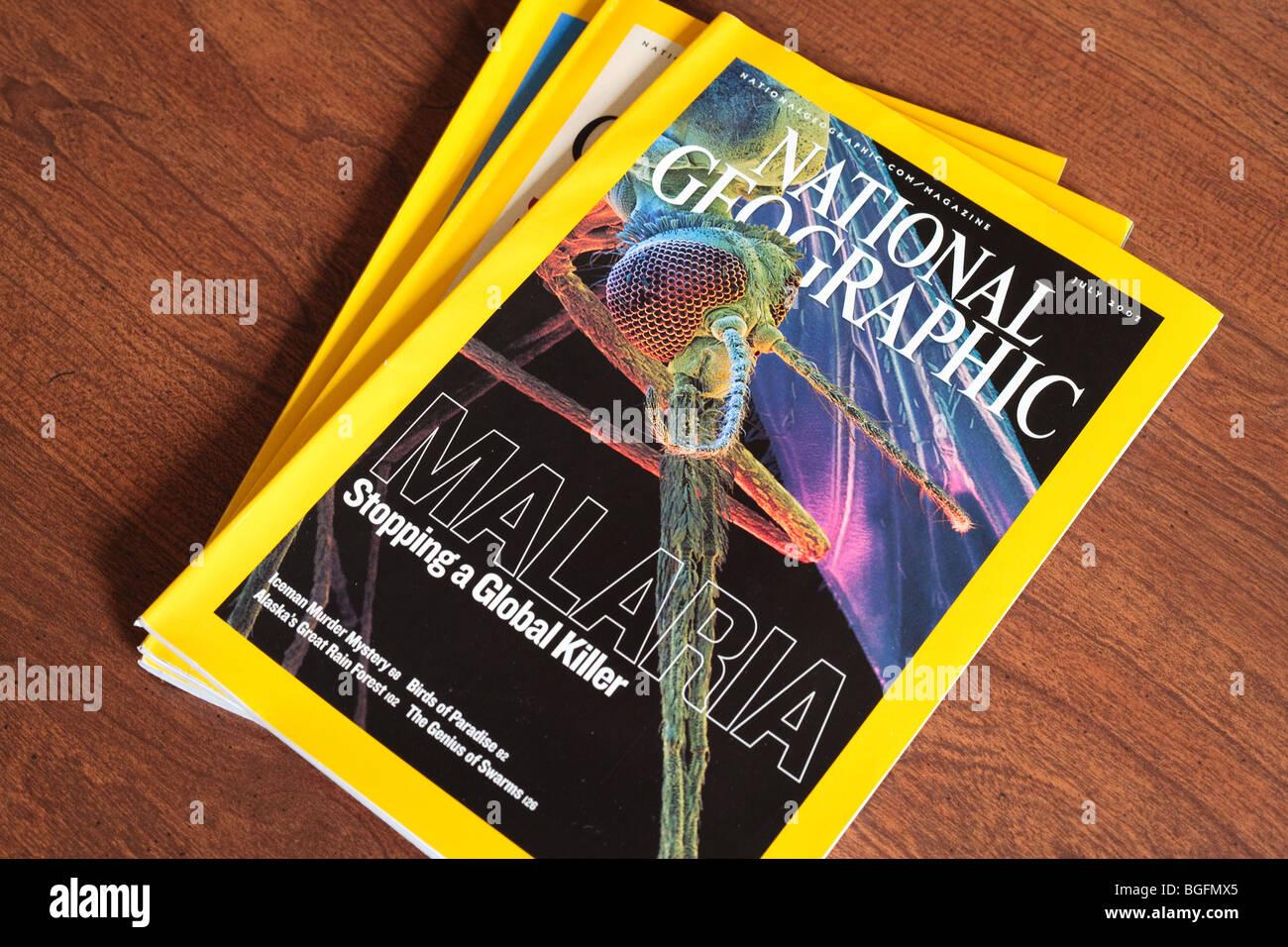 National Geographic Magazine - Stock Image