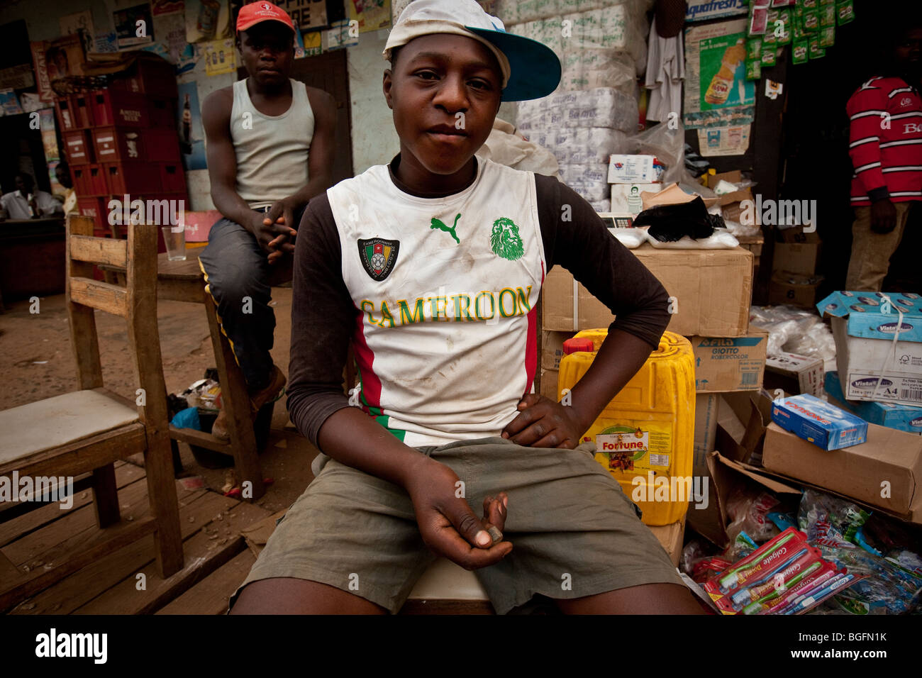 Young man, Bamenda, Cameroon, West Africa. - Stock Image