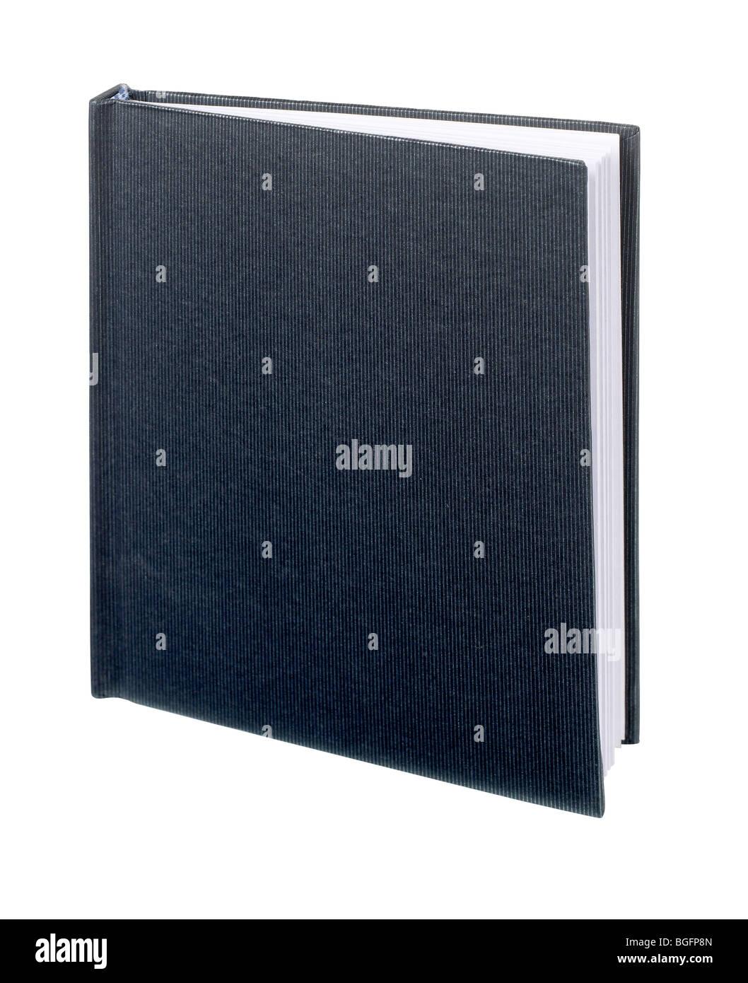 Black hard cover book journal ledger sketch draw - Stock Image